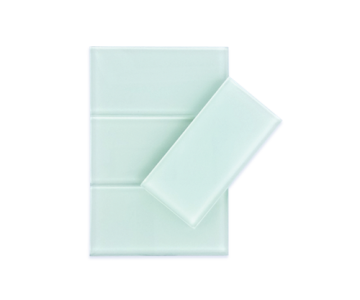Arctic White Subway Glass Tiles